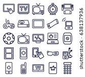 screen icons set. set of 25...   Shutterstock .eps vector #638137936