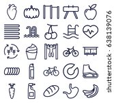 healthy icons set. set of 25... | Shutterstock .eps vector #638139076