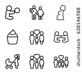 mom icons set. set of 9 mom... | Shutterstock .eps vector #638146588