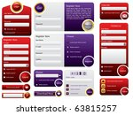 big button web form design | Shutterstock .eps vector #63815257
