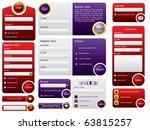 big button web form design | Shutterstock .eps vector #63815257