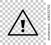 alert vector icon | Shutterstock .eps vector #638152702
