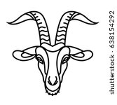 linear stylized drawing   goat... | Shutterstock .eps vector #638154292