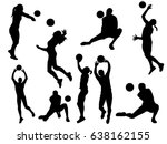 Set Of Volleyball Player...