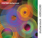 colorful abstract circles....   Shutterstock .eps vector #63816280