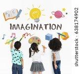 learning fun childhood...   Shutterstock . vector #638174902