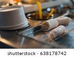 thailand stir fried ice cream... | Shutterstock . vector #638178742