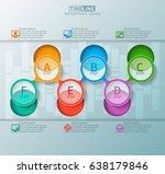 vector abstract 3d paper... | Shutterstock .eps vector #638179846