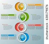 vector abstract 3d paper... | Shutterstock .eps vector #638179876