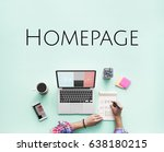 homepage website design... | Shutterstock . vector #638180215
