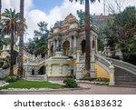 neptune fountain at  santa... | Shutterstock . vector #638183632