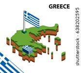 isometric map and flag of... | Shutterstock .eps vector #638202595