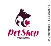 pet shop logo. animal shelter ...
