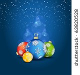 christmas background with ball... | Shutterstock .eps vector #63820528