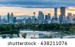 calgary downtown in the evening ...   Shutterstock . vector #638211076