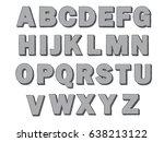 geometric 3d alphabet with... | Shutterstock .eps vector #638213122