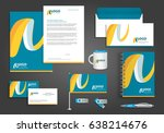 vector abstract stationery... | Shutterstock .eps vector #638214676