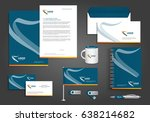vector abstract stationery... | Shutterstock .eps vector #638214682