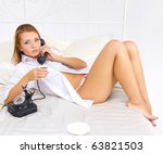 Gal With A Vintage Phone