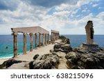 greek style ruins in fortune... | Shutterstock . vector #638215096