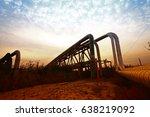 oil pipeline  the oil industry...   Shutterstock . vector #638219092