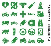 drive icons set. set of 25... | Shutterstock .eps vector #638220952