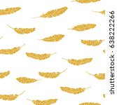 vector hand drawn seamless... | Shutterstock .eps vector #638222266