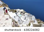 pyrgos  santorini  greece | Shutterstock . vector #638226082