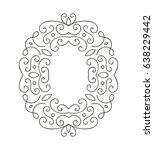 elegant hand drawn retro floral ... | Shutterstock .eps vector #638229442
