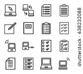 notebook icons set. set of 16... | Shutterstock .eps vector #638232088