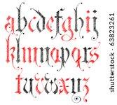 sketch gothic alphabet   Shutterstock .eps vector #63823261