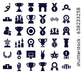 victory icons set. set of 36... | Shutterstock .eps vector #638233258
