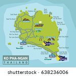 ko pha ngan is an island in the ... | Shutterstock .eps vector #638236006