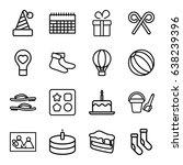 Holiday Icons Set. Set Of 16...