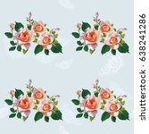 seamless floral pattern with... | Shutterstock .eps vector #638241286