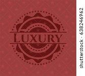 luxury retro style red emblem | Shutterstock .eps vector #638246962