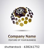 a logo template in abstract... | Shutterstock .eps vector #638261752