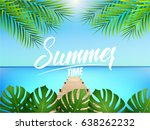 summer time. illustration with... | Shutterstock .eps vector #638262232