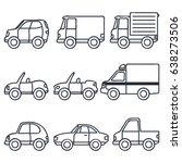 various set of transportation... | Shutterstock .eps vector #638273506