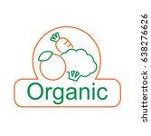 organic symbol  vector | Shutterstock .eps vector #638276626