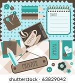 scrapbook elements  vector | Shutterstock .eps vector #63829042