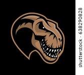 dinosaur head sport club vector ...   Shutterstock .eps vector #638290828
