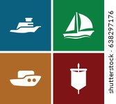 sail icons set. set of 4 sail... | Shutterstock .eps vector #638297176