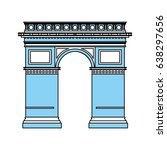 arc de triomphe icon image  | Shutterstock .eps vector #638297656