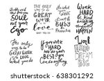 the only way to do great work...   Shutterstock .eps vector #638301292