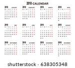 2018 calendar planner design. | Shutterstock .eps vector #638305348