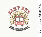 best bus tour badge logo for... | Shutterstock .eps vector #638311642