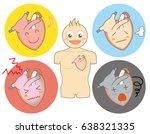 heart condition  set   human... | Shutterstock .eps vector #638321335
