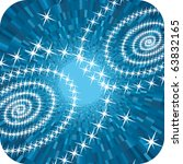 abstract blue shine stars... | Shutterstock .eps vector #63832165