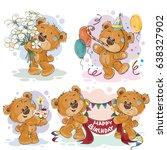 set of clip art illustrations...   Shutterstock . vector #638327902